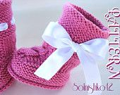 Baby Hat & Boots w Cables & Pearls by Elena Mitchell @ Solnishko43 - *pattern