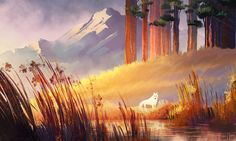 The Art Of Animation, Fiona Hsieh Environment Concept, Environment Design, Art And Illustration, Fantasy Landscape, Landscape Art, Fantasy Kunst, Animation Background, Environmental Art, Pretty Art