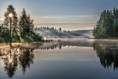 Misty morning in Finland by photographer Asko Kuittinen.