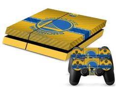 Golden State Warriors PS4 Decal Sticker Set Description: All skins are made from quality, adhesive backed vinyl that is precut to fit perfectly Made from quality, adhesive backed vinyl Protect your Co
