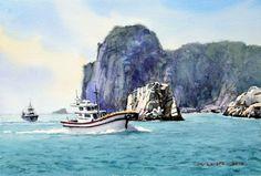거제 해금강 53.0 x 40.9cm  watercolor dn ppaper watercolor by Jung in sung