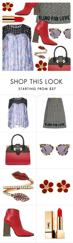 """""""Date Night"""" by stacey-lynne ❤ liked on Polyvore featuring Space Style Concept, Gucci, Prada, Delfina Delettrez, Emilio Pucci and Yves Saint Laurent"""