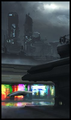 P132 by HBDesign | Digital Art / Drawings & Paintings / Sci-Fi | Futuristic City Vehicle Cyberpunk