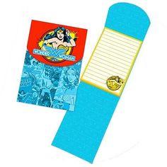 Wonder Woman Notepad with Magnetic Closure by Vandor Lyon Company, http://www.amazon.com/dp/B003B0IRBU/ref=cm_sw_r_pi_dp_AECFsb0P4NWHE