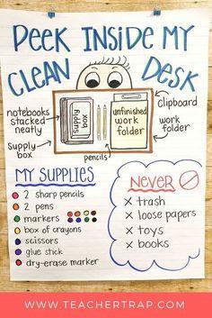 No More Messy Student Desks – Teacher Trap