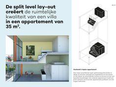 Het micro-appartement in de stad - XS Deluxe Micro House, Tiny House, Split Level, Villa, Shelves, Design, Home Decor, Artemis, Lofts