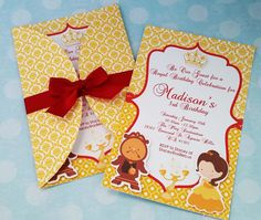 20 beauty and the beast invitation and 20 thank by ArtPaperParty