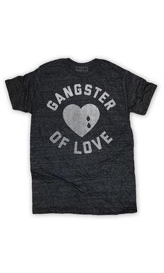 Gangster of Love. Ultrasoft charcoal triblend crewneck t-shirt.