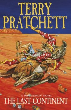 The Last Continent: A Discworld Novel: 22 by Terry Pratchett http://www.amazon.co.uk/dp/0552146145/ref=cm_sw_r_pi_dp_7MmBvb187FQRR