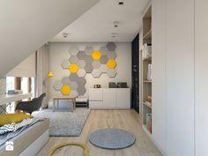 (Dom w okolicy Lublińca) Dom jednorodzinny 7 - Średni pokój dziecka dla chłopca dla dziewczynki dla ucznia dla nastolatka, styl skandynawski - zdjęcie od BAGUA Pracownia Architektury Wnętrz