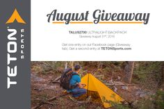 Trails, here I come! I want the Talus2700 backpack from @Tetonsports so I can go #backpacking.