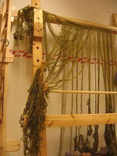starting to warp the loom