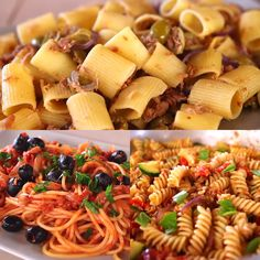 And overhead look at a bowl of classic pasta salad in an aqua bowl. Easy Pasta Salad Recipe, Pasta Recipes, Dinner Recipes, Greek Tortellini Salad, Pasta Salad Italian, Antipasto Pasta Salads, Salads For A Crowd, Salad Dressing Recipes, Italian Recipes