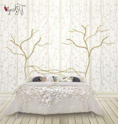 Cabecero de cama de forja artística