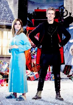 Clara and the Doctor in 2014's Christmas Special