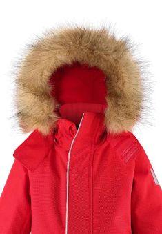 Kids' winter snowsuit Trondheim | Reima International Trondheim, Velcro Tape, Kids Outdoor Play, Winter Hats, Winter Jackets, Adjustable Legs, New Uses, Snow Suit, Orange Yellow