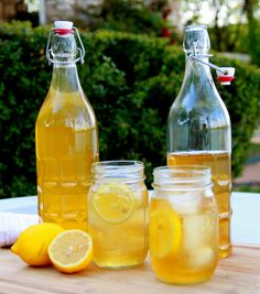 healthy iced tea ~ To make this fabulous, antioxidant rich Sweet Tea, simply add 4-5 Chinese Flower Tea sachets to about 2 quarts of boiling water. Let steep for 3 mins. Serve chilled over ice with a squeeze of liquid stevia and garnish with sliced lemon.
