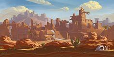 ArtStation - BG for mobile game2, Dawn Pu