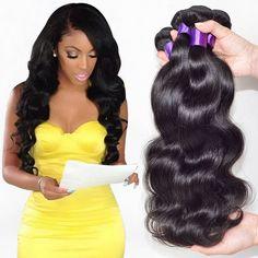 """7A Peruana Virgin Hair Body Wave 3 Bundles Peruana Cuerpo Ofertas de Paquete Pelo Virginal de la onda Remy Armadura Del Pelo Humano 6 """"-28"""""""