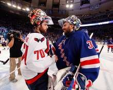 Braden Holtby and Henrik Lundqvist, New York Rangers vs. Washington Capitals in Semifinals Game 7 on 5/12/2012