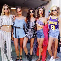 Constance Jablonski, Taylor Hill, Sara Sampaio, Alessandra Ambrosio & Josephine Skriver #Coachella 2016
