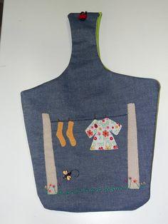 bolsa para las pinzas  #cocina #patchwork #manualidades #pinzas #ropa #hechoamano