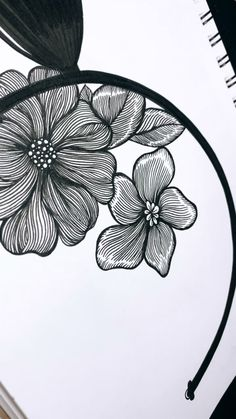 Drawing Lined Leafs floral inspiration