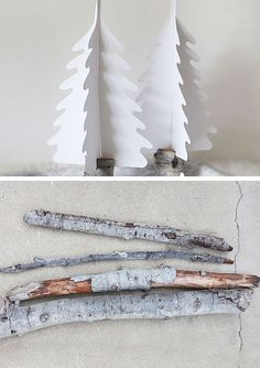 Silhouette Christmas Trees | Click for 25 DIY White Christmas Decorations Ideas | White Christmas Decorating Ideas for the Home