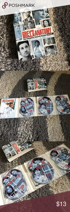 Grey's Anatomy - Complete 2nd season UNCUT Fairly New - Includes all disks - Let me know if you have any questions or need more photos - I also sell on Mercarii Other