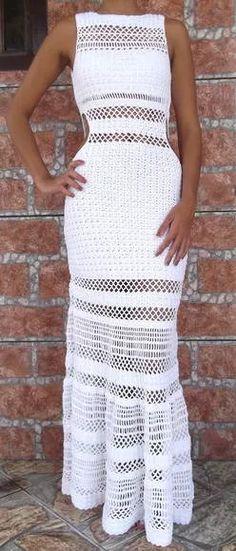 vestido em crochet (modelo usado pela sabrina sato)