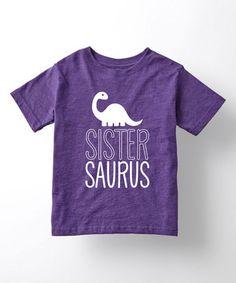 Purple 'Sistersaurus' Tee - Toddler & Girls #zulily #zulilyfinds