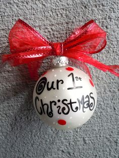 Our 1st Christmas Ornament by jessicakdesigns on Etsy, $10.00