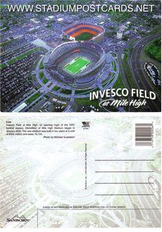€ 1,50 - code : USA-023 - Denver - Invesco Field - stadium postcard cartolina stadio carte stade estadio tarjeta postal