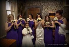 wedding bridal party group photo bridesmaids