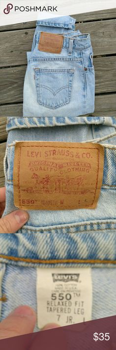 550 Levi's Amazing Levi's 550s in great condition size 7 😍😍 super cute and fun to style 😍😍😍😍 Levi's Jeans Straight Leg