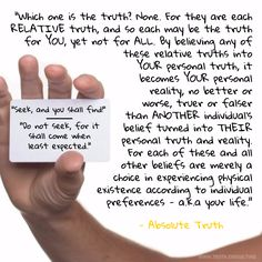 What is the difference between belief, truth and Absolute Truth?  For more, visit www.truth.consulting