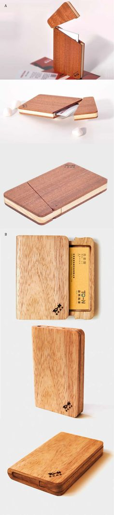 Wooden Biz Name Card Case
