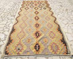 Pastel Kilim Area Rug Anatolian Ethnic Woven by PillowTalkOnEtsy, $775.00