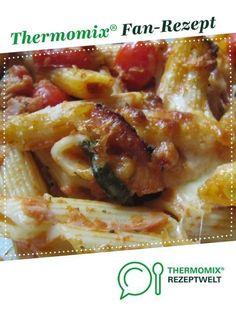 Nudelauflauf mit Tomaten und Mozzarella von sabri. Ein Thermomix ® Rezept aus der Kategorie sonstige Hauptgerichte auf www.rezeptwelt.de, der Thermomix ® Community.