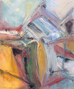 Fallen chairs, painting Lydeke van Beersum