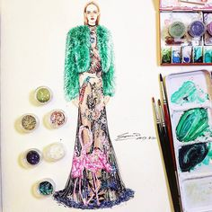 409 個讚,5 則留言 - Instagram 上的 SONIA 邵邵(@sonia_shao):「 #alexandermcqueen #soniashao #fashionillustrations #illustration #watercolor #fashionart #artwork… 」