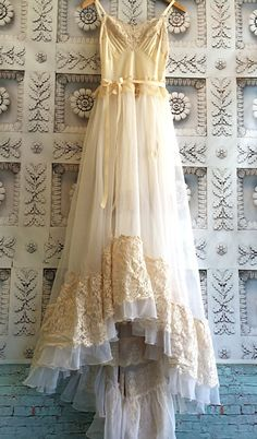 cream ivory & blush lace chiffon crochet by mermaidmisskristin - Hang Me Up...