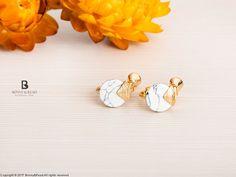 Bonny & Read 平價飾品 - [正韓] 缺一角的圓夾式耳環  NT.255