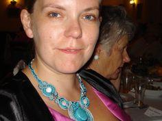 Soutache necklace, 48 cm.