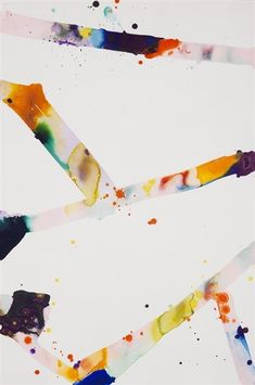 "I love the tension and energy between the color bars and the white. ""White"" by  Sam Francis - WikiPaintings.org"