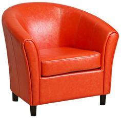 Napoli Orange Leather Club Chair by Universal Lighting and Decor, http://www.amazon.com/dp/B008SJ3Y2G/ref=cm_sw_r_pi_dp_n5eoqb00W3S6G