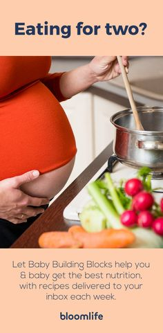 The what, when, why, and how of building a baby. Sign up for our pregnancy nutrition newsletter that provides week-to-week recipes just for you and your baby.