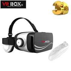 "19.77$  Watch more here - VR BOX 3.0 Google Cardboard Virtual Reality VR 3D Glasses Goggles with Headphone for 4.5-5.5"" Smart Phone + Bluetooth Remote   #buychinaproducts"