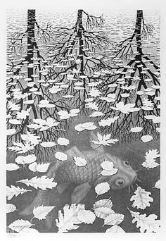 Great art from Art Authority for iPad: Three Worlds by Escher, M.C.