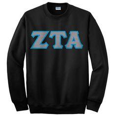Zeta Tau Alpha Crewneck Sweatshirt #Greek #Sorority #Clothing #ZTA #Zeta #ZetaTauAlpha